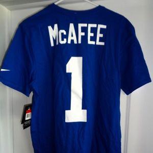 Nike Pat McAfee #1 Indianapolis Colts T Shirt Sm